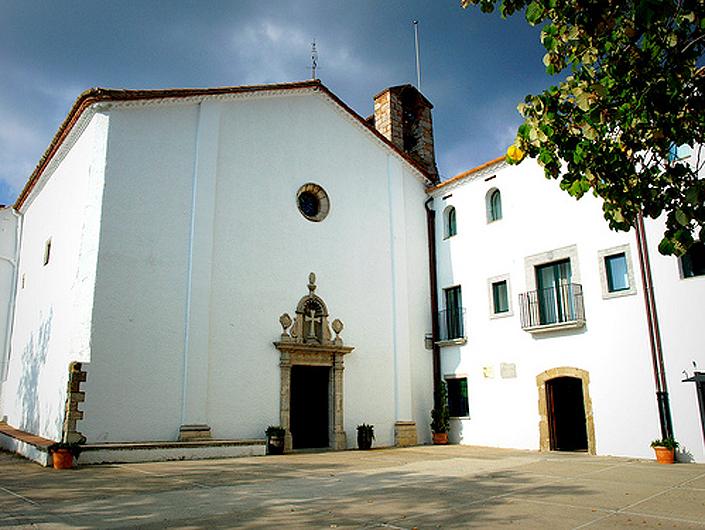 façana del santuari dels àngels