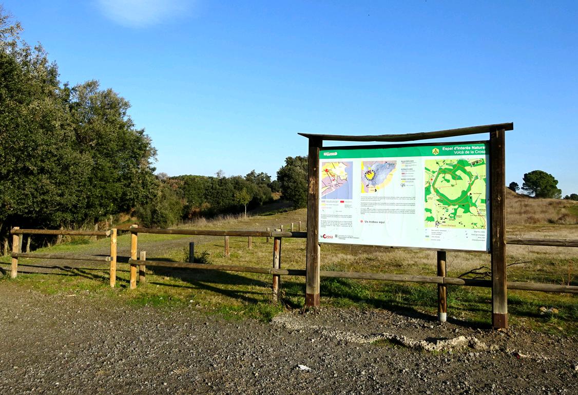 Panell informatiu Volcà de la Crosa