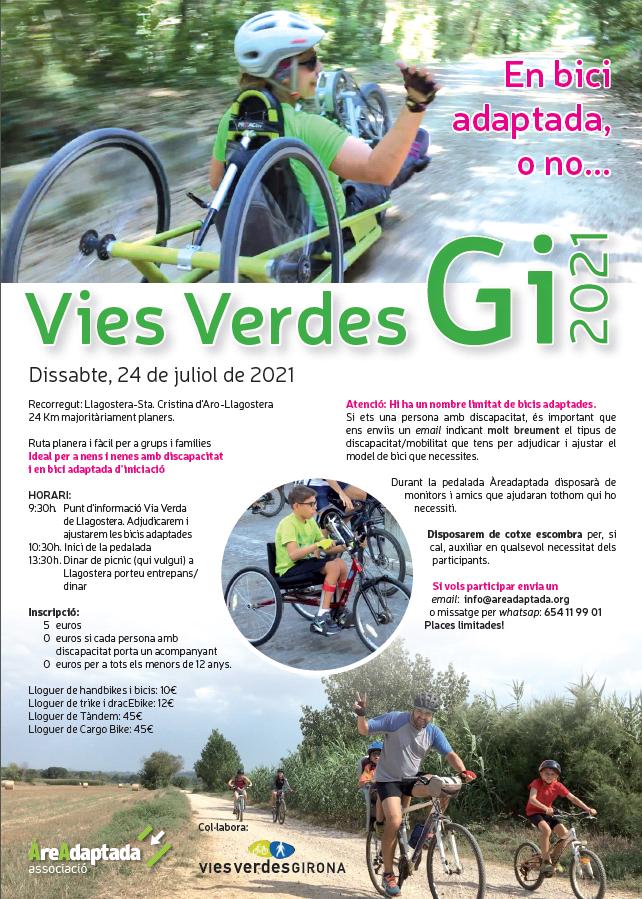Cartell Vies Verdes Girona 2021